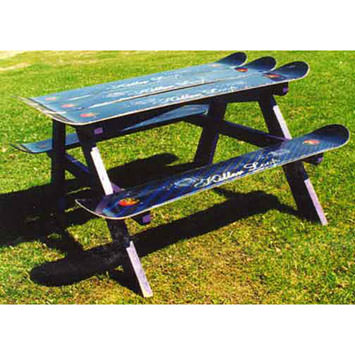 Got Loads Of Old Skis Or Snowboards? Like The Idea Of The Bench But Want To  Go Bigger? How About A Picnic Table? Take A Look At These Beauties!