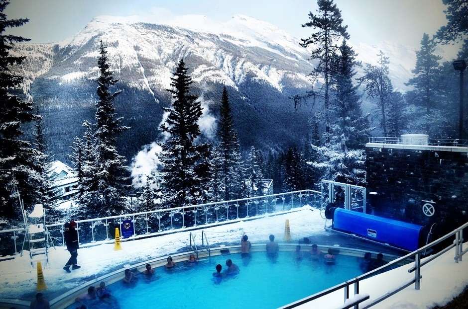 Outdoor Hot Springs in Banff