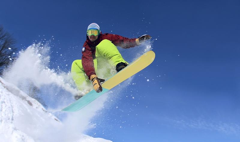 Snowboarding air tricks